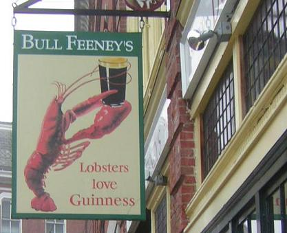 Bull Feeney's sign in Portland, Maine