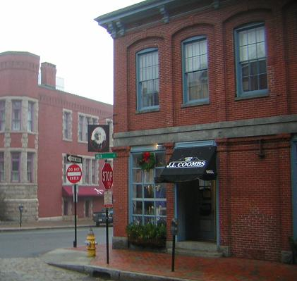 Milk Street in downtown Portland, Maine