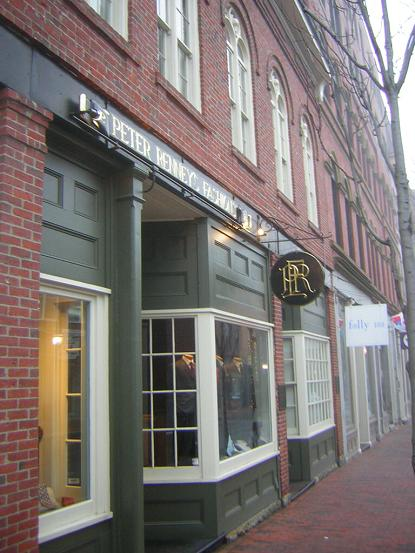 Shops in downtown Portland, Maine