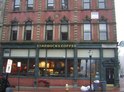 Yes, there's a Starbuck's - Portland, Maine